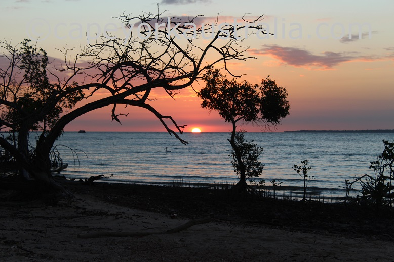 mission river sunset