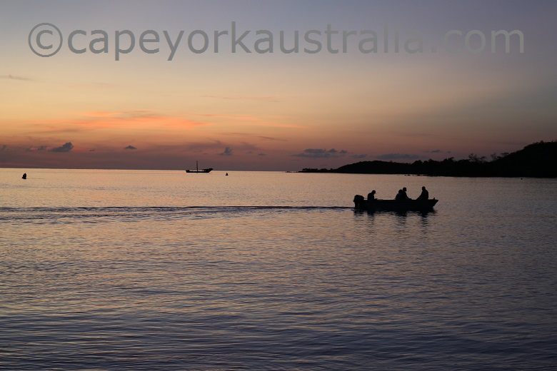 seisia sunset twilight boatride