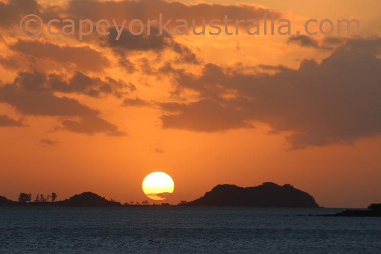 barn island sunset