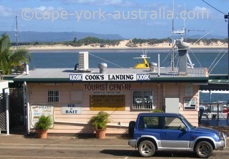 cooks landing kiosk cooktown