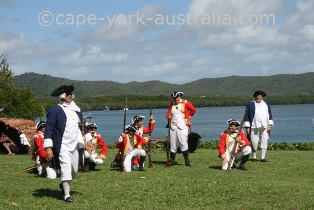 cooktown festival re-enactment