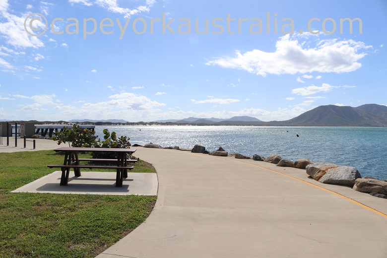 cooktown foreshore picnic tables