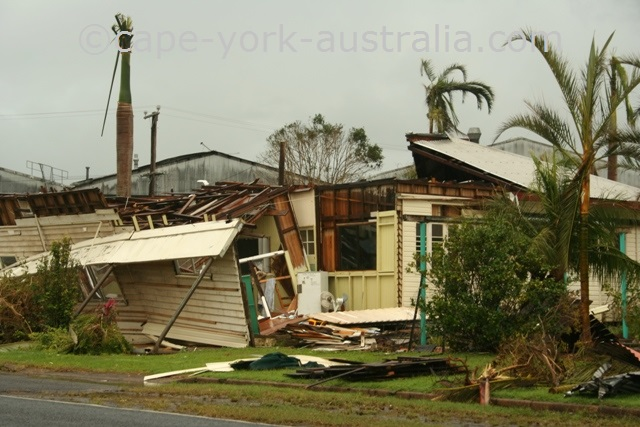 cyclone larry damaged home