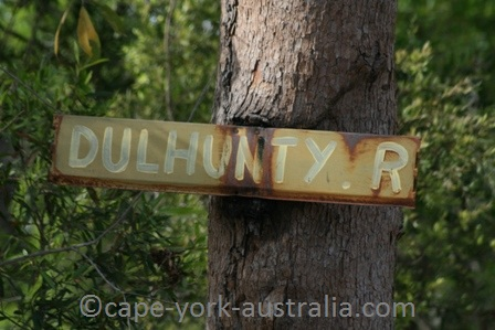 dulhunty river sign