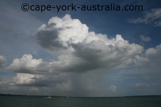 early wet season shower