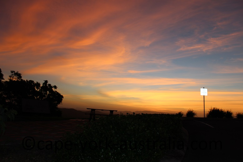 grassy hill walk lookout sunset