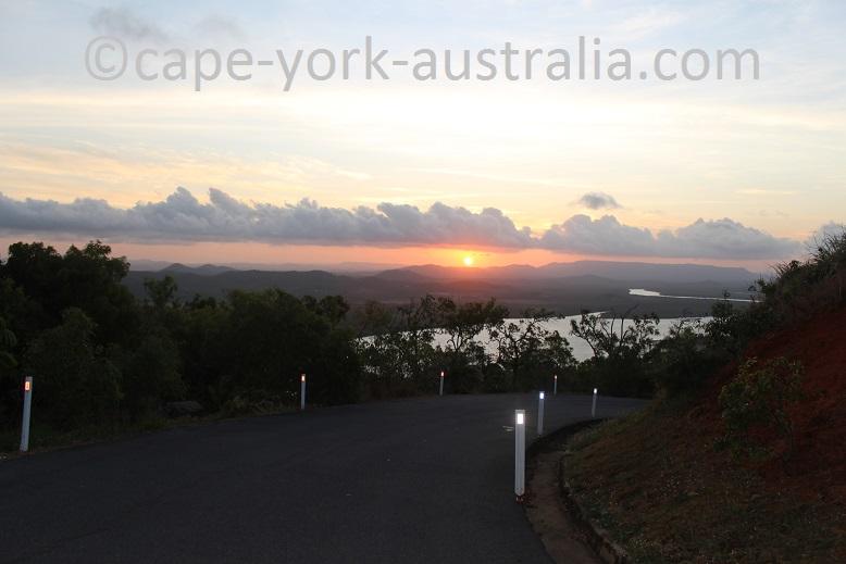 grassy hill walk sun set
