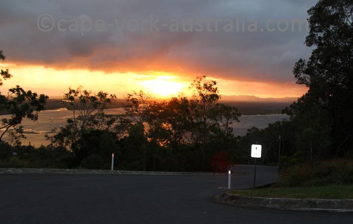 grassy hill walk sunset