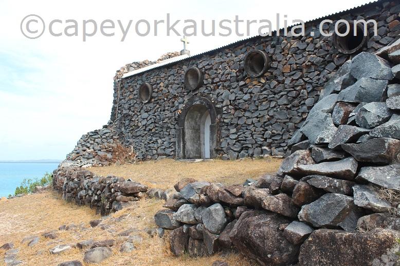 hammond island church rocks