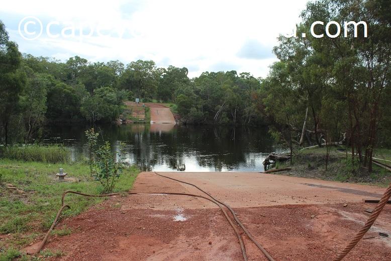 jardine river ferry crossing wet season