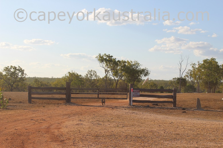 kimba to gamboola road gate