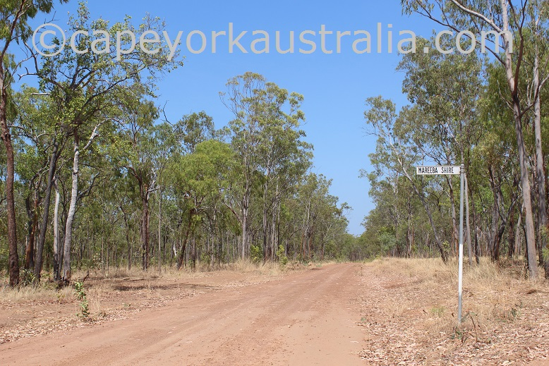 kimba to gamboola road mareeba shire border