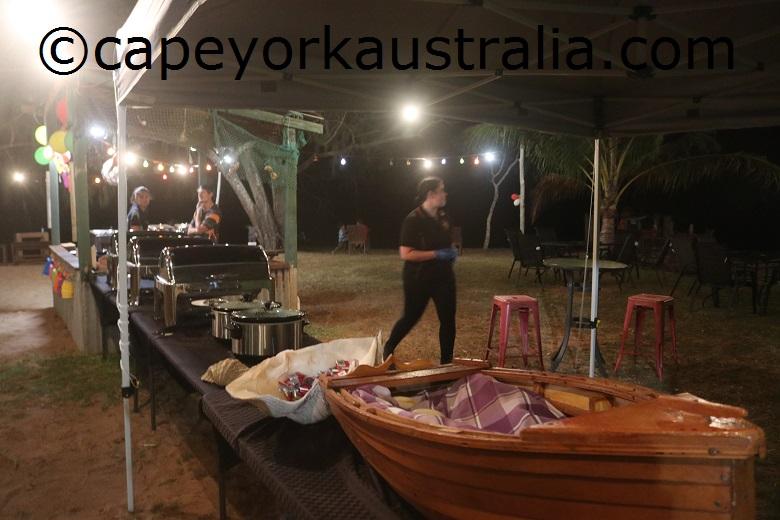 loyalty beach restaurant roast night