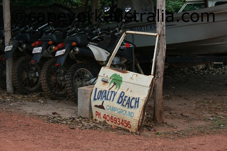 loyalty beach sign