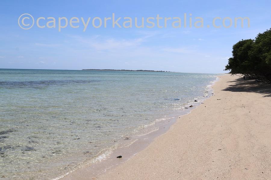 masig island beach walk