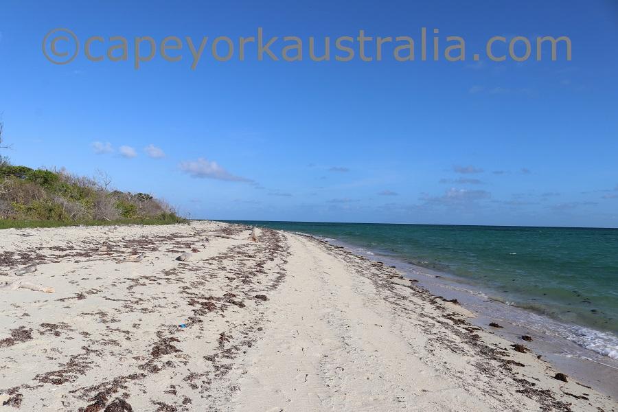 masig island south west beach walk