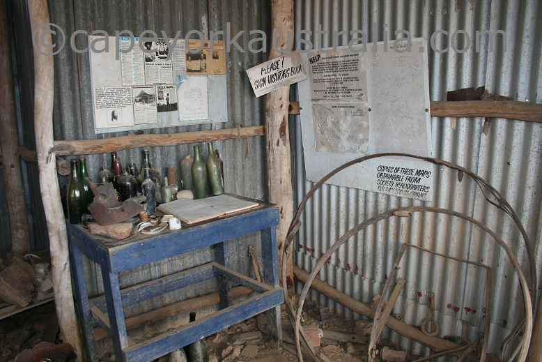 maytown miners hut inside
