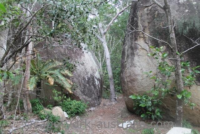 mount cook national park granite boulders