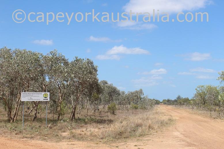 pormpuraaw coleman river turnoff