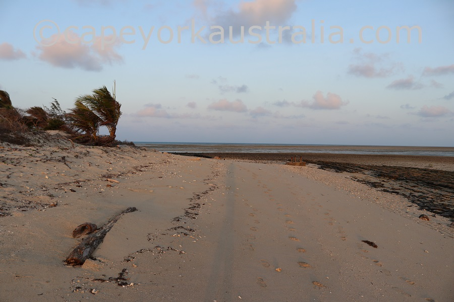 poruma island evening beach walk