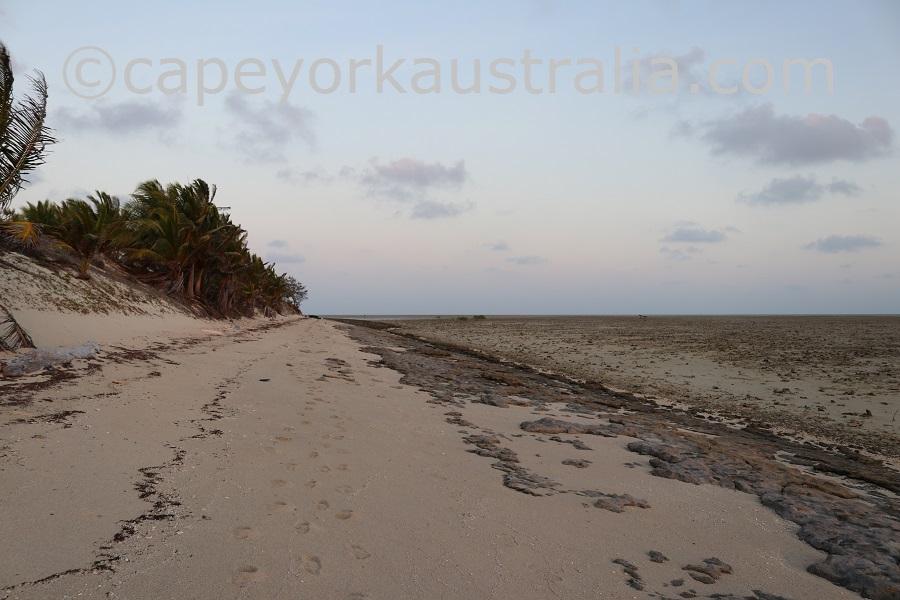 poruma island evening walk southern beach