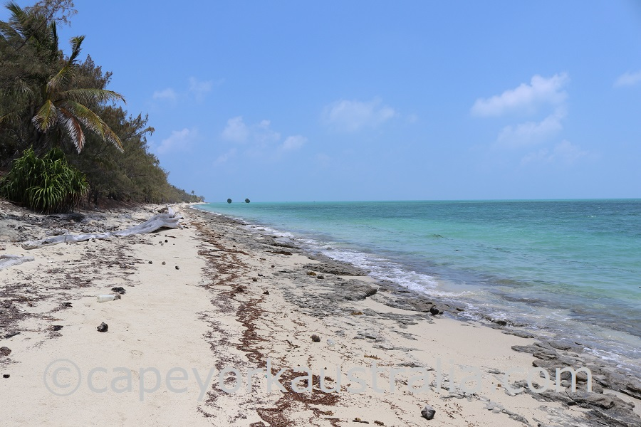 poruma island southern beach walk