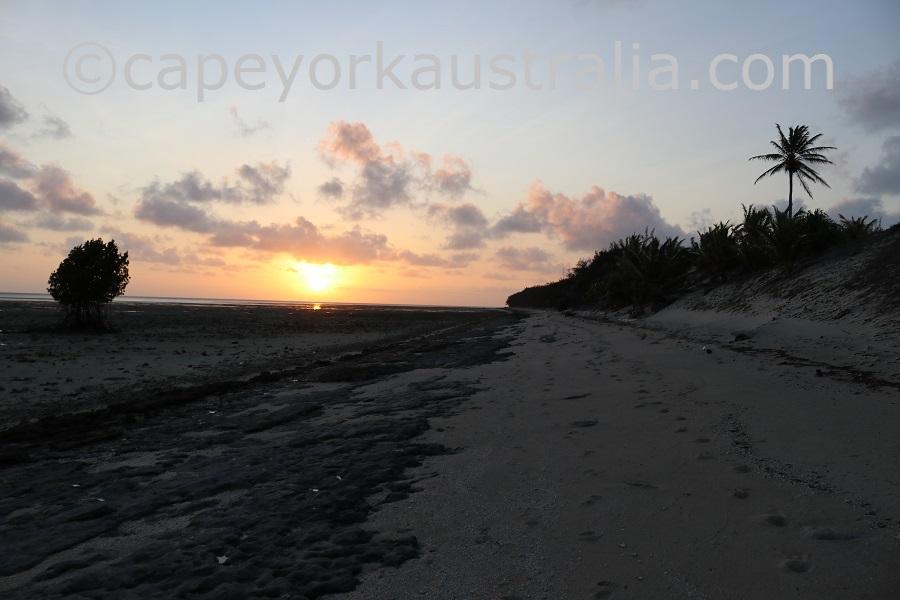 poruma island sunset southern beach walk