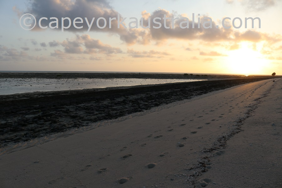 poruma island sunset walk