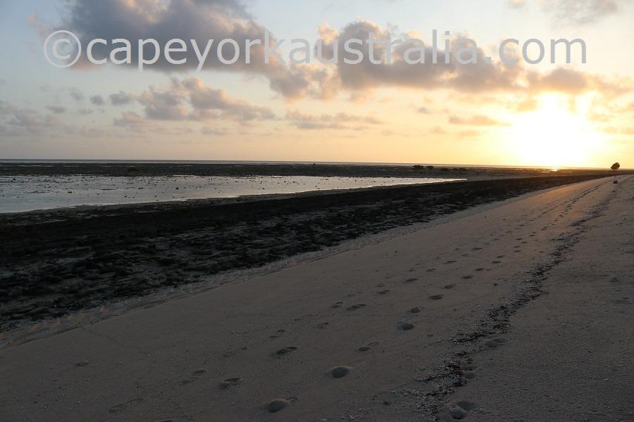 poruma island sunset walk
