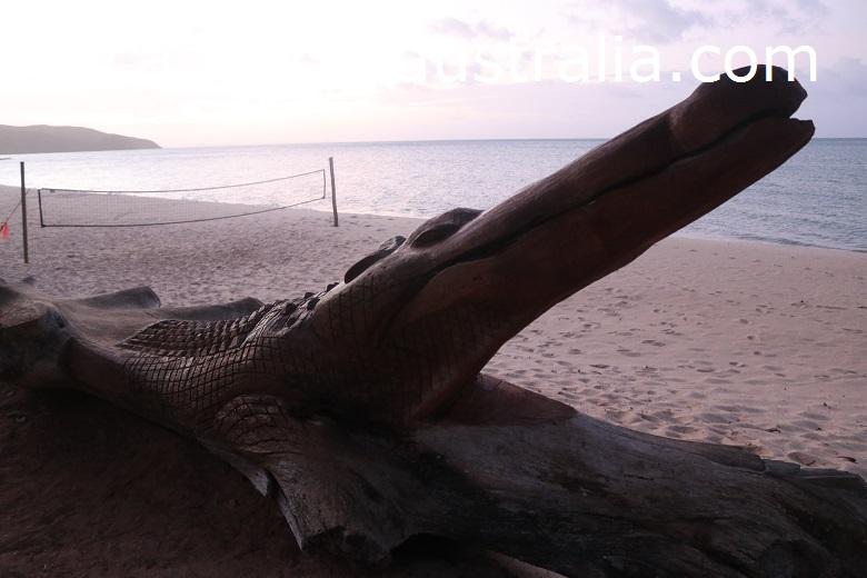 punsand bay croc statue