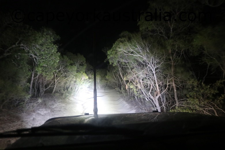 roma flats track at night