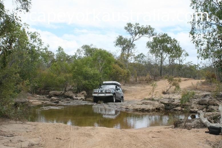 running creek swimming hole