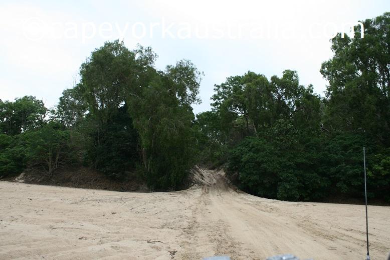 running creek track stewart river crossing