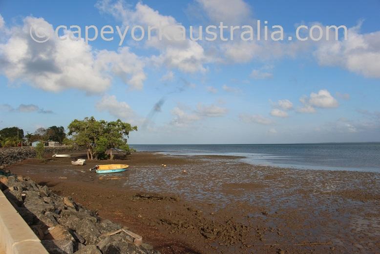 saibai island low tide