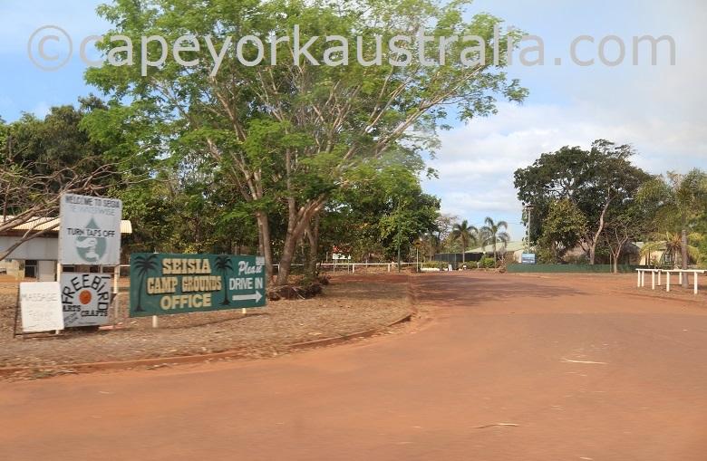 seisia camping ground entrance