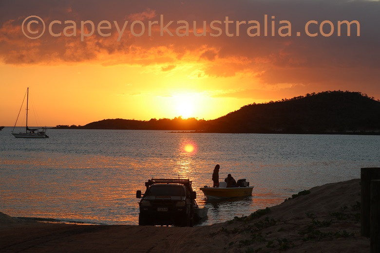 seisia sunset boat ramp