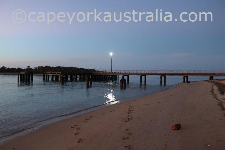 seisia wharf from beach