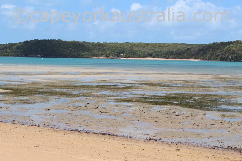 somerset beach low tide