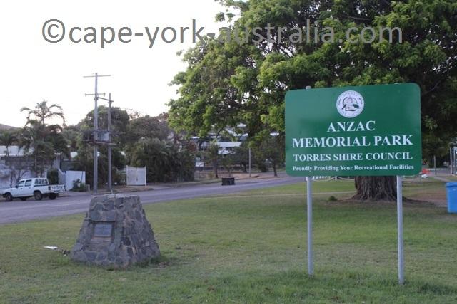 thursday island anzac park