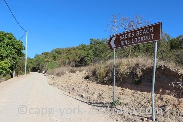 thursday island lions lookout sadies beach