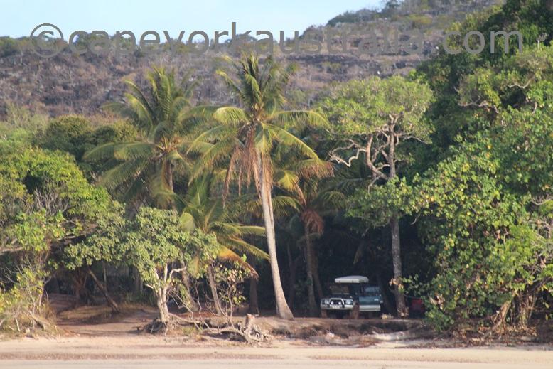 frangipani beach car park