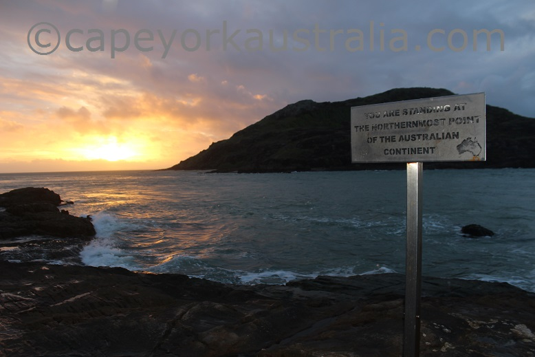 tip of australia sunset sign