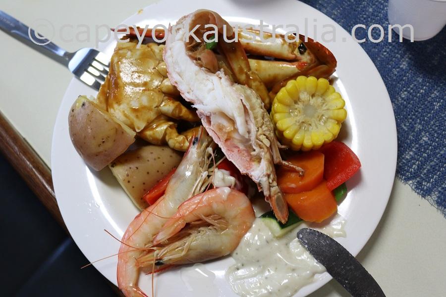 torres strait seafood dinner