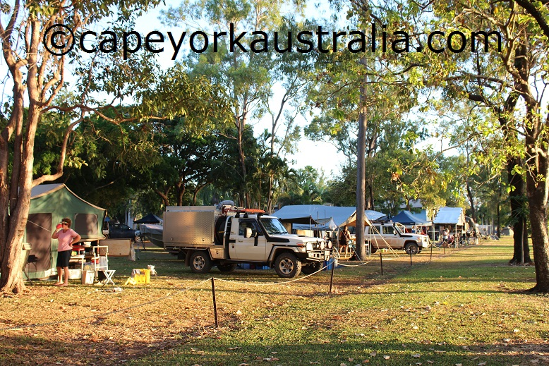 weipa camping ground beach camping