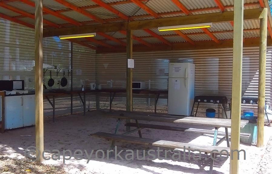 weipa camping ground camp kitchen