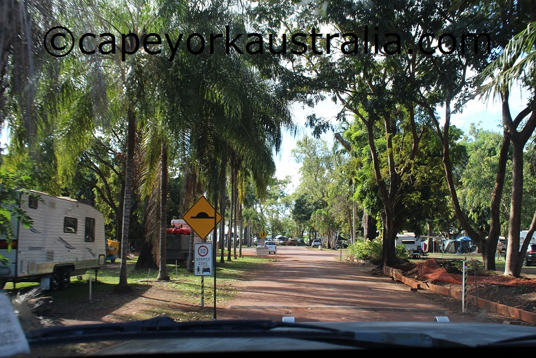 weipa camping ground entrance