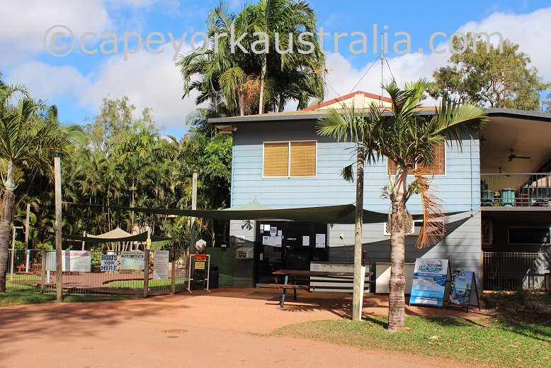 weipa camping ground reception
