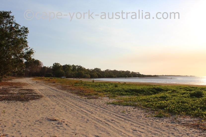 weipa caravan park beach