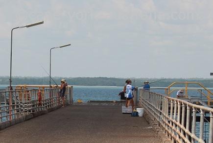 weipa fishing evans landing wharf