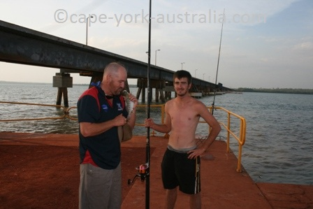 weipa fishing mission river bridge